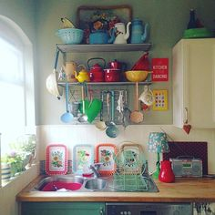 It's the annual painting of my kitchen units tomorrow and I'm trying to decide what colour to go for. Bold and beautiful or muted and classy? I'm leaning towards orange or red at the moment! #vintagestyle #vintagehome #vintagedecor #myhome #mykitchen #myview #myvintagehome #myvintagekitchen
