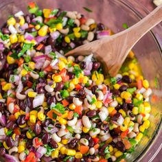 The Best Cowboy Caviar Dip It's sweet and savory, light and satisfying. This pretty cowboy caviar dip tastes as good as it looks. Mexican Food Recipes, Vegetarian Recipes, Cooking Recipes, Healthy Recipes, Ethnic Recipes, Yummy Recipes, Mexican Meals, Sauce Recipes, Healthy Foods