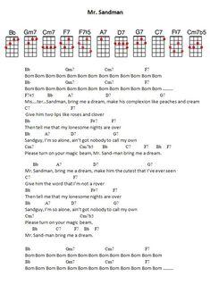 JPEG - 76.1 ko. Mr Sandman #ukulele