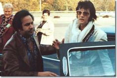 Elvis on his way to the Afternoon Show in Dayton Ohio October 6 1974. Where he sang a lovely version of https://youtu.be/HWV1pMtW7Vo