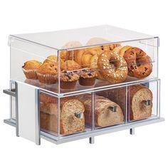Cal Mil Eco Modern White Merchandiser Set with Frame, Bin, & Bread Box - x x 9 in. Kitchen Organization Pantry, Diy Kitchen Storage, Kitchen Pantry, New Kitchen, Kitchen Decor, Kitchen Themes, Kitchen Stuff, Pantry Design, Kitchen Design