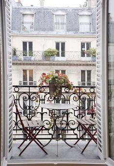 Parisian balcony with French garden furniture