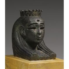 Egyptian Bronze Head of the Goddess Isis, from the Stern of a Sacred Barque , 21st/30th Dynasty, 1075-342 B.C.