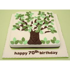 FAMILY TREE CAKE | various options for putting in a family tree bit...