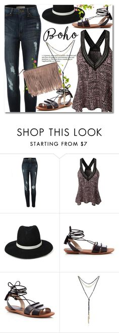 """le3no.com"" by svijetlana ❤ liked on Polyvore featuring LE3NO, French Connection, Velvet by Graham & Spencer, Bohemian, polyvoreeditorial and le3no"