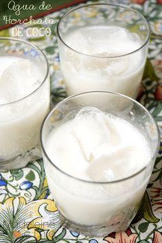 Horchata de coco #AguaFresca #MadeleineCocina