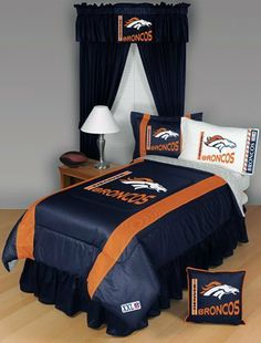 DENVER BRONCOS 5PC TWIN BEDDING SET, Comforter Sheets Sham New NFL Boys by Dream Time Kids Bedding. $116.04