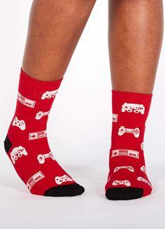 Video Gaming Moon Man Cute Funny Design Creative Sport 3D Printed Crew Socks