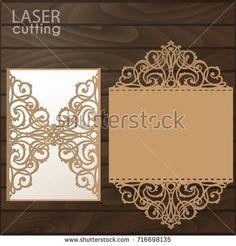 Wedding invitation pattern card template lace folds studio v3 svg laser cut wedding invitation card template vector die cut paper card with lace pattern stopboris Gallery