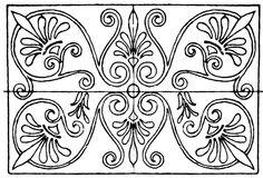 Greek Oblong Panel