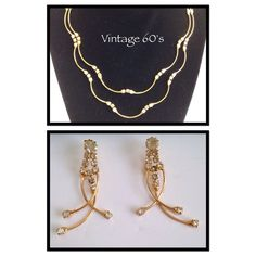Vintage 60'S Necklace And Earrings