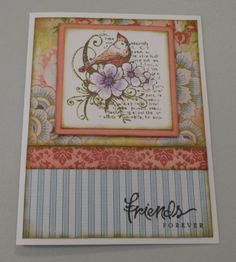 This card features the Fabulous You Stamp Set, CTMH Watercolour Pencils, White Daisy Cardstock, Ariana Paper Packet and Cocoa and Desert Sand Exclusive Inks Stamp Pads. Created by Denise Tarlinton www.scrapstampshare.ctmh.com.au