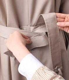 コートのベルトの結び方 ファッション通販のNY.online Belts For Women, Fashion Outfits, Womens Fashion, Wardrobes, Capsule Wardrobe, Style Me, Beige, How To Wear, Clothes