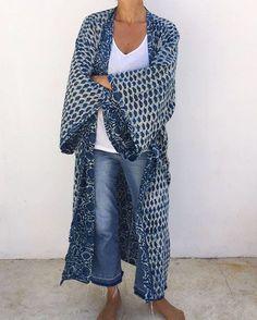 Indigo supersize Kimono | Malaika Cotton