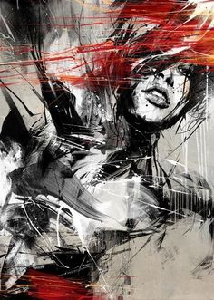 This painting is almost a pop art/abstract fusion. I'd paint the portrait, then be too afraid to add the extra daubs in case I wrecked it! 'Fries To Go' by Russ Mills Pintura Graffiti, Wow Art, Art Graphique, Pics Art, Art Plastique, Portrait Art, Abstract Portrait, Painting & Drawing, Amazing Art
