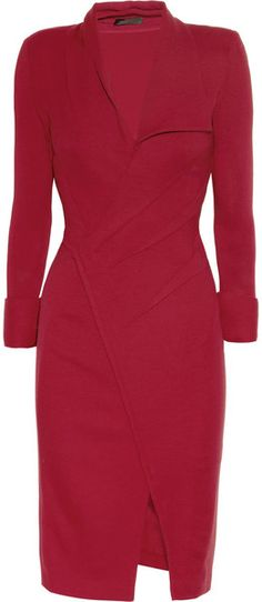 oh my @DNKY, must have Pleated Stretch Wool Dress