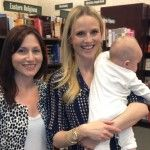 Laura Gerson of MomAngeles with Rosie Pope at her book signing in Calabasas 2013.