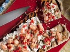 Shrimp, Artichoke and Fresh Ricotta Flatbread : Recipes : Cooking Channel