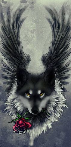 44 Ideas tattoo wolf ideas spirit animal black wolves for 2019 Anime Wolf, Wolf Tattoos, Fantasy Kunst, Fantasy Art, Wolf Artwork, Wolf Spirit Animal, Fantasy Wolf, Wolf Wallpaper, Cool Wallpapers Wolf
