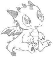 Image result for easy to draw baby dragons