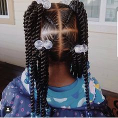 """Hi, here are some """"Unique Braided Hairstyles for Kids."""" They are all a perfect hairstyle with a perfect fitting. Lil Girl Hairstyles, Black Kids Hairstyles, Natural Hairstyles For Kids, Natural Hair Styles, Toddler Hairstyles, Curly Hairstyles, Unique Braided Hairstyles, Pelo Afro, Braids For Kids"""
