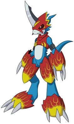 Flamedramon -Vector- by MonsterArkham on @DeviantArt