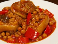 Trotters with garbanzo beans