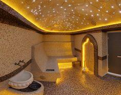 Турецкие бани строительство турецких бань хамам актуально в сегодняшние дни. С окончания прошлого века нам разрешили путешествовать открыто и границы были расширены почти по всему миру. Так исторически сложилось, что наш Крым остался на прежнем уровне развития с бывших советов и нам было суждено активно посещать Египет и Турцию, там все было гораздо более благоприятно […] Sauna Lights, Sauna Steam Room, Turkish Bath, Spa Design, Villa, Home Spa, Bathroom Interior Design, Jacuzzi, Modern Bathroom