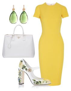 """""""Easter Sunday"""" by arta13 ❤ liked on Polyvore featuring Victoria Beckham, Dolce&Gabbana and Prada"""