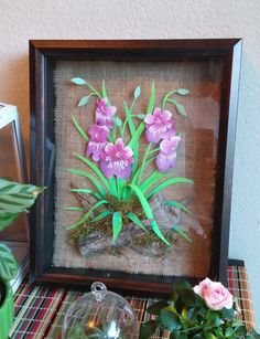 Hand Painted Paper Sculpture Miltonia Orchid by by TyrantKingdom