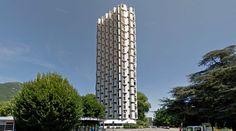Tours de l'Île Verte - Housing - 1964-66 by R.Anger, P.Puccinelli, M.Loyer, C.Pivot, P.Junillon & M.Heymann - #architecture #googlestreetview #googlemaps #googlestreet #france #grenoble #brutalism #modernism