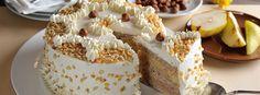 B.B.'s Bakery » Rezept-Highlight: Haselnuss-Birnen-Torte mit weißem Nougat