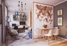 Aménagement et décoration d'un appartement de 40m2