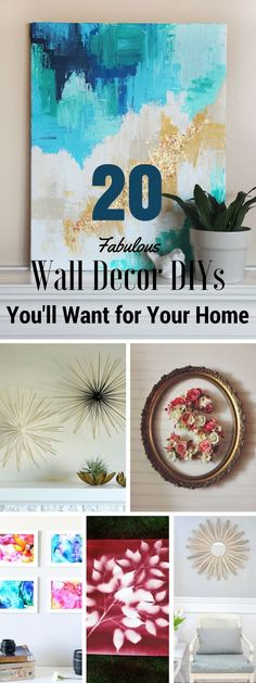 Check out these 20 fabulous wall decor DIYs @istandarddesign