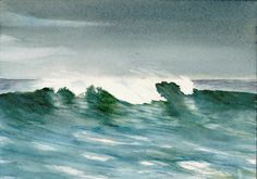 wave watercolor painting | Tip #21 Painting Rocks in Watercolor step-by-step Rocks are a frequent ...