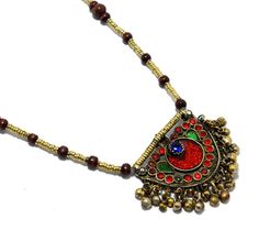Kuchi Pendant Necklace, Bohemian Jewelry