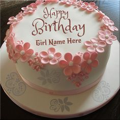 Write Name On Beautiful Elegant Birthday Cake For Lover.Online Write Your Name On Love Cake Pic.Create Love Greetings Cake With Your Lover Name.