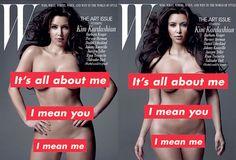 Kim Kardashian x Barbara Kruger for W Magazine Art Issue • Highsnobiety