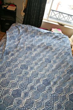 A duvet that Rock kept on his bed.