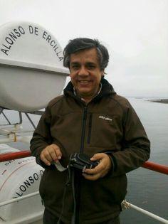 Hernan en wl transbordador rumbo a Ancud