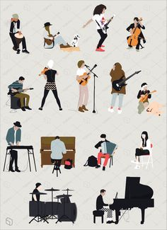 Toffu | Common Pack - Performance II People Illustration, Character Illustration, Digital Illustration, People Png, Cut Out People, Architecture People, Cultural Architecture, Render People, Icon Png