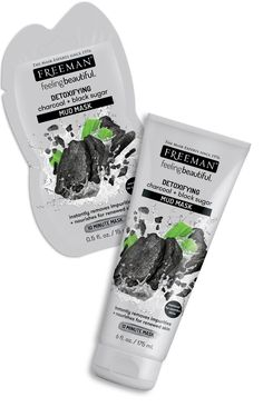 This velvety mud mask works its magic to moisturize, remineralize, and make skin sensationally soft! Activated Charcoal helps lift away oil and toxins while Black Sugar helps hydrate skin and smooth away roughness. Perfect for normal to combination skin. Face Mask For Pores, Face Skin, Face Masks, Face Care, Body Care, Freeman Face Mask, Black Sugar, Pore Mask, Charcoal Face Mask