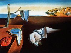'Miękkie zegarki to nic innego jak paranoiczno-krytyczny camembert, miękki, ekstrawagancki i samotny w czasie i przestrzeni.  Nieważne, czy zegarek jest twardy czy miękki, ważne żeby wskazywał dokładną godzinę.'  La persistencia de la memoria (Trwałość pamięci), 1931 olej, płótno; 24,1×33 cm  #salvadordali #salvadordalipolska