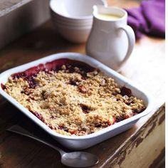 Plum and Apple Crumble Recipe - Good Housekeeping - Good Housekeeping