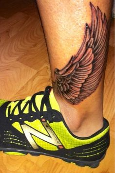This has to be the coolest tattoo I've seen so far. Inspired by Hermes the Greek god (Steve Fuentes).