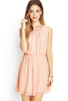 Swiss Dot Fit & Flare Dress | FOREVER21 - 2000085656