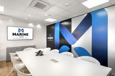 Office architectural & interior design realised by STIRIXIS Group for the renovation of Marine Tours SA. The meeting rooms are fully equipped to correspond to the company's needs. Office Interior Design, Office Interiors, White Office Furniture, Common Room, Furniture Making, Architecture Design, Commercial, Meeting Rooms, Tours