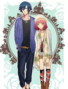 Ichinose Tokiya and Nanami Haruka from Uta no Prince-sama