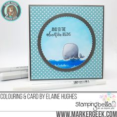 Stamping Bella - Marker Geek Monday - Copic & White Gel Pen Detail on a Sweet Baby Card