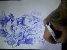 Sketch inspired by jun cha